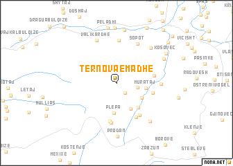 map of Tërnova e Madhe