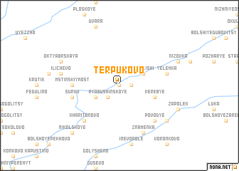 map of Terpukovo