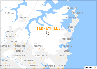 map of Terrey Hills