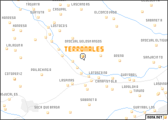 map of Terronales