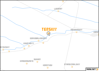 map of Terskiy