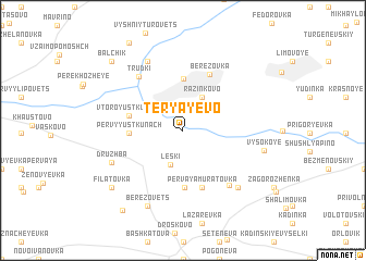map of Teryayevo