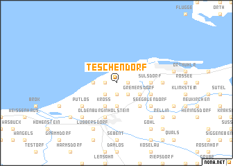 map of Teschendorf