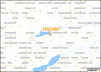map of Teschow