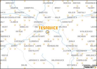 map of Těšnovice