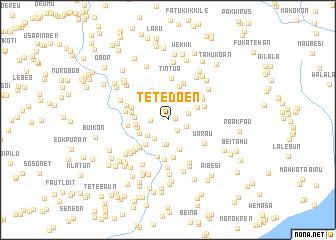 map of Tetedoen