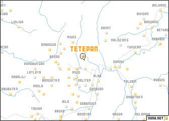 map of Tetepan