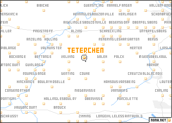 map of Téterchen