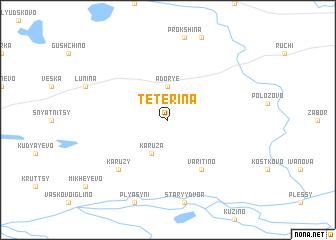 map of Tetërina