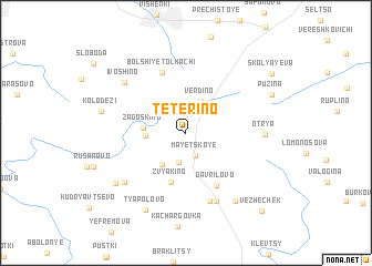 map of Tetërino