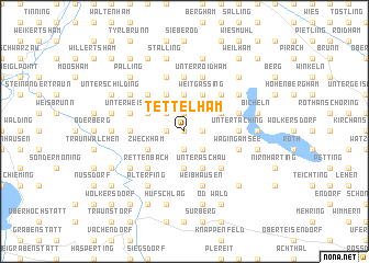 map of Tettelham