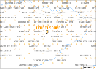 map of Teufelsdorf
