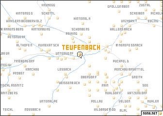 map of Teufenbach