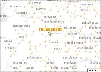 map of Teußerbad