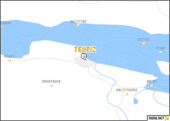 map of Tevriz