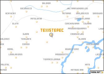 map of Texistepec