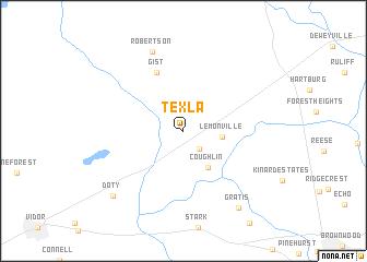 map of Texla