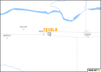map of Texola