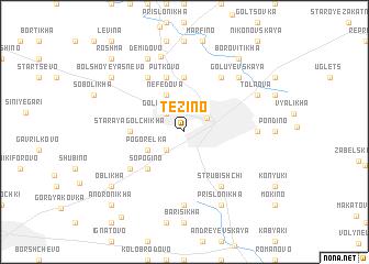 map of Tezino