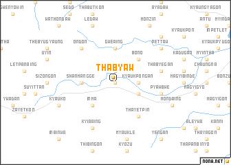 map of Thabyaw