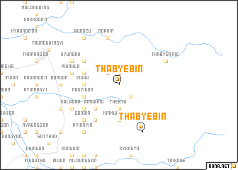map of Thabyebin