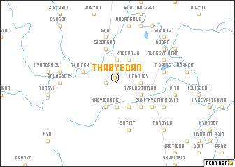 map of Thabyedan