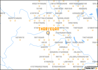 map of Thabyedan