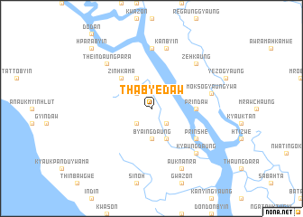 map of Thabyedaw