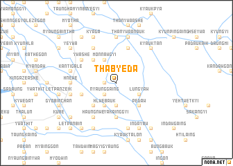 map of Thabyeda