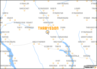 map of Thabyedon