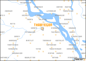 map of Thabyegon