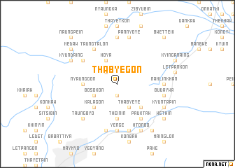 map of Thabye-gon
