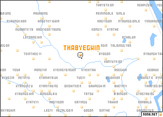map of Thabyegwin
