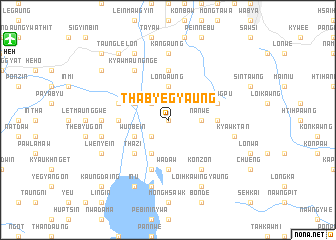 map of Thabyegyaung