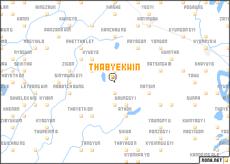 map of Thabyekwin