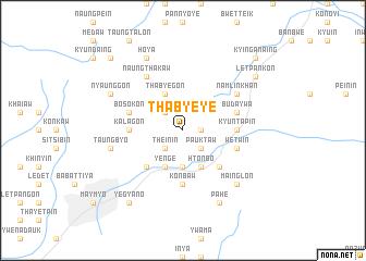 map of Tha-bye-ye