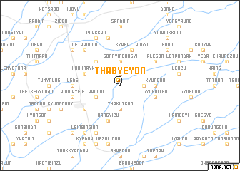map of Thabyeyon