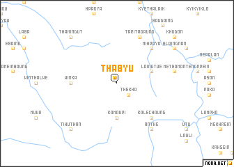 map of Thabyu