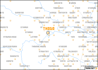 map of Thada