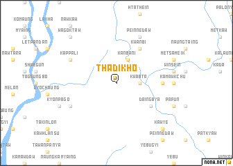 map of Thadikho