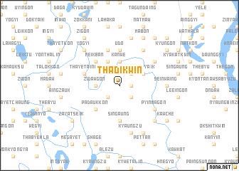 map of Thadikwin