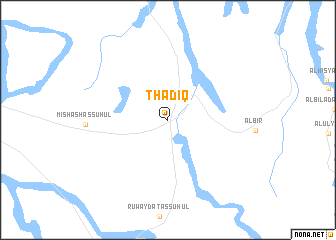 map of Thādiq