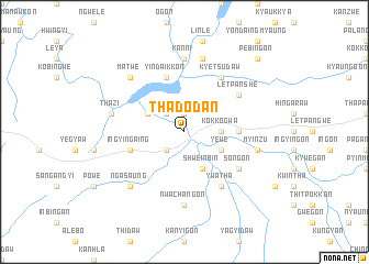 map of Thadodan