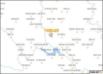 map of Thadun