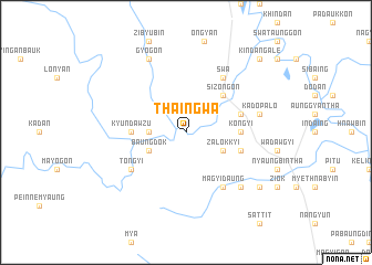 map of Thaingwa