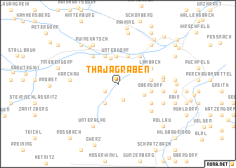 map of Thajagraben