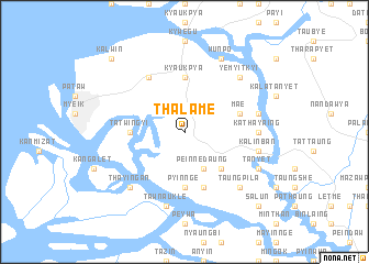 map of Thalame