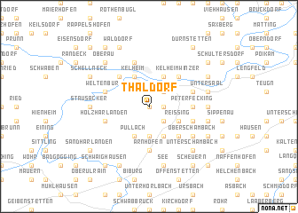 map of Thaldorf