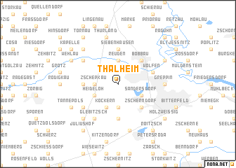 map of Thalheim