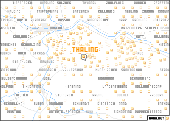 map of Thaling